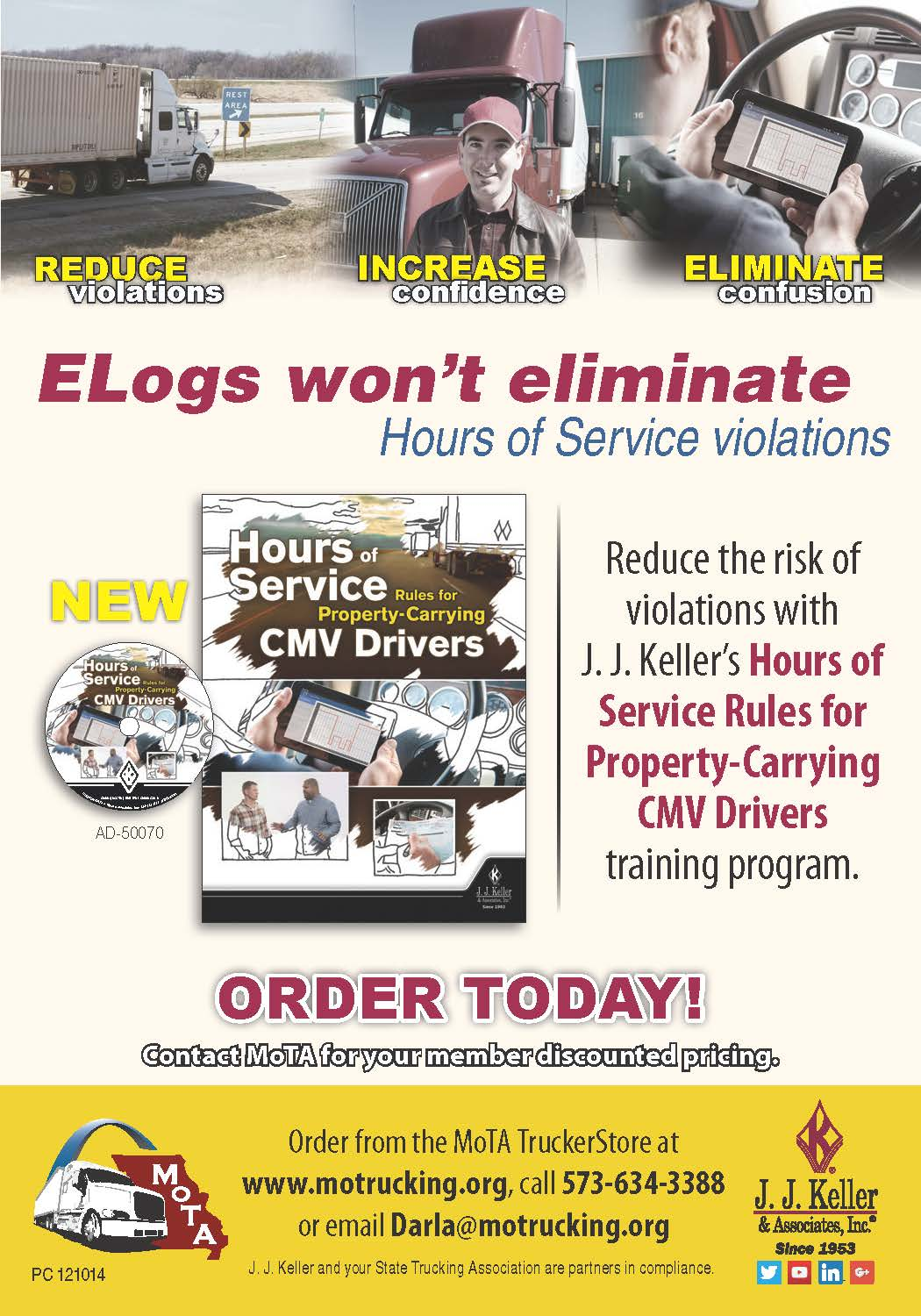 Hours of service rules missouri trucking association for Missouri motor carrier services